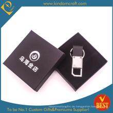 Hohe Qualität angepasst Branded Werbung Metall Leder Schlüsselanhänger aus China