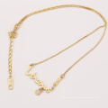 41968 Xuping moda ouro crianças jóias colar nome simples design para o bebê