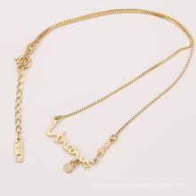 41968 Xuping fashion gold kids jewelry simple design name necklace for baby