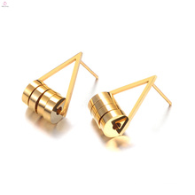 Custom Geometry Round Shaped Stud Stainless Steel Earrings Jewelry