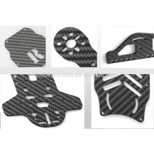 Professionelle 3K Twill voll Kohlefaser Blatt für Drohne Rahmen cnc schneiden Kohlefaser Blatt Rahmen Preis 1mm 2mm 3mm 4mm 5mm 6mm