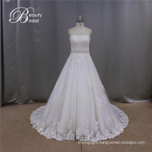 Strapless Lace Wedding Dress White