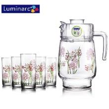 Luminarc 7PCS Ensemble d'eau en verre imprimé avec couvercle en plastique (G5114)