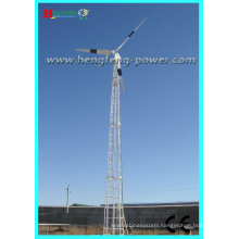 CE direct drive low speed low starting torque permanent magnet generator 50kw horizontal axis wind turbine