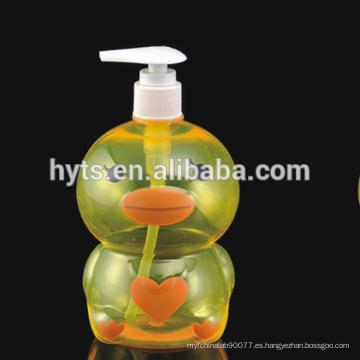 Botella plástica formada animal de lujo de 100ml 200ml