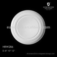 Exportación Placas de cerámica cuadradas blancas seguras del lavaplatos del hotel y del restaurante caliente de la venta, placas del cargador, placas del cargador al por mayor