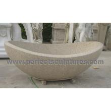Bañera de mármol del cuarto de baño del mármol de la piedra (QBN074)