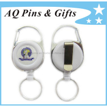 Plastic White Badge Reel with Stationary Type