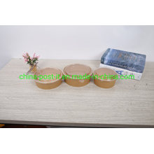 Kraft Paper Salad Bowl with Plastic Lid