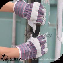 SRSAFETY Самые дешевые промышленные кожаные пальмовые перчатки
