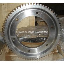 Anel de engrenagem de aço inoxidável com usinagem CNC