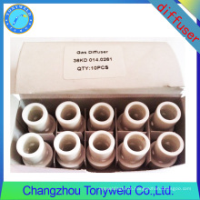 mig welding spare part binzel 014.0261 ceramic gas diffuser