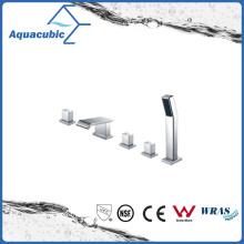 Triple Handle Chromed Brass Bathtub Faucet with Hand Shower (AF6090-2D)