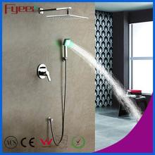 Fyeer Badezimmer-in-Wand-Niederschlag-Dusche-Hahn mit LED-Licht