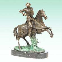 Warrior Metal Sculpture Medieval Soldier Home Deco Bronze Statue Tpy-456