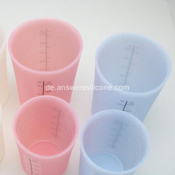 FoodGrade Durable Silicone Plastic Drink Cup mit Deckel