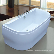 Белый глубоко акриловая прогулка в ванной для тучных людей