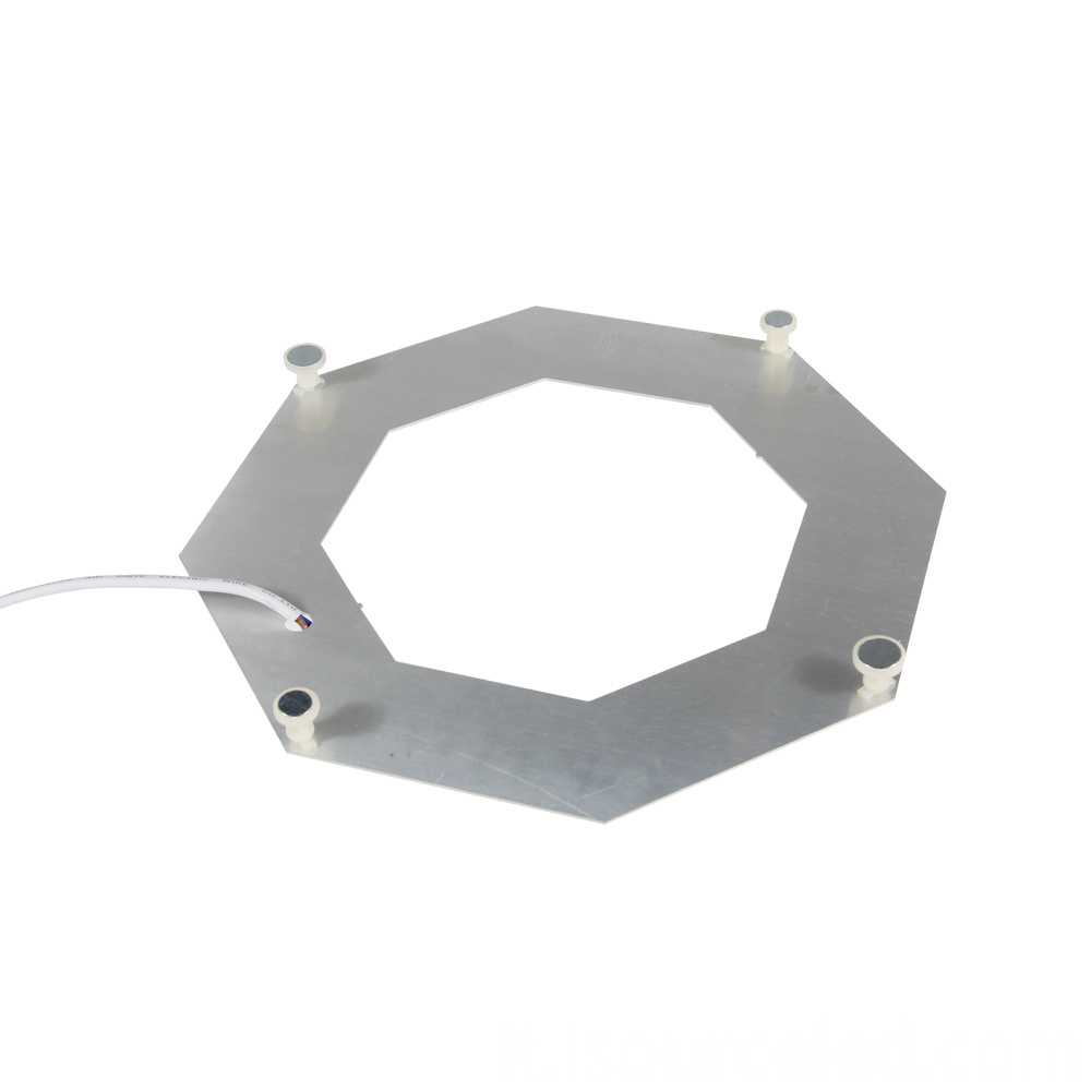 AC linear Lens Warm white 8W light module bottom view