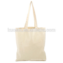 White cotton canvas tote bags with company logo