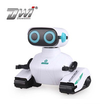 2.4GHZ remote control robot white intelligent robot children toy with Led eye