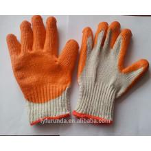 Luvas de malha de algodão revestidas com palma de borracha