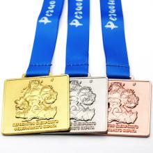 Hot Selling Free Sample Custom Metal Gold Sliver Bronze Award Medal