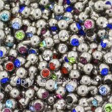 3mm - Jóias de substituição de jóias de quartzo de 14G