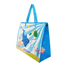 Eco-friendly customize laminated pp woven shopping bag with zipper