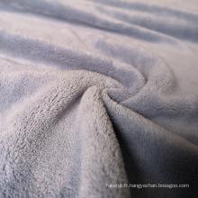 Tissu polaire de corail de polyester bon marché pour des couvertures