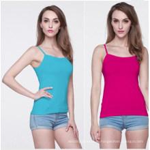 Лето Женская мода в несколько цветов топы Синглетного (MU6634)