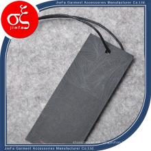 Etiqueta de papel de impresión de logotipo de moda / Etiqueta de columpio para trajes de hombre / Camiseta / Jeans