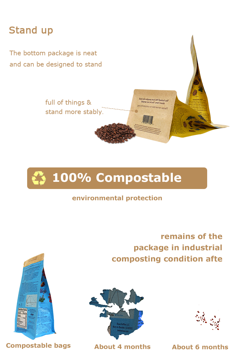 compostable coffee bean bag