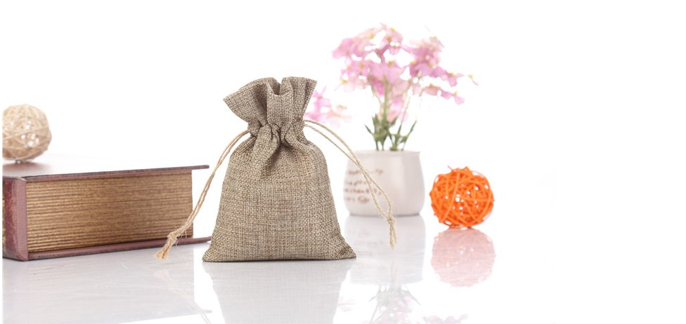 Linen Bag with Hemp Cord - YJX