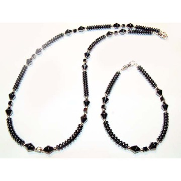 Hématite Set Black Jewelry