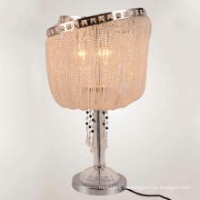 Indoor Beside Living Room Luxury Led Bedside Modern Metal Crystal Table Lamp