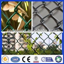 PVC revestido de arame de diamante de arame de cerca de link de corrente / zinco revestido esporte campo cerca de ligação de corrente