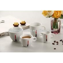 2015 Förderung keramische Geschenkbecher-Satz Porzellan weiße Kaffeetasse eingestellt