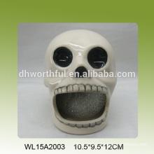 Декоративный держатель для керамической губки в форме черепа для кухни