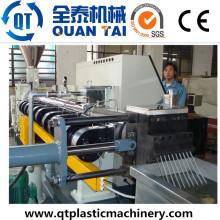 Co-girando extrusora de duplo parafuso / Pet Fibre Reciclagem Pelletizing Machine