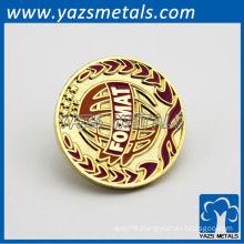 custom zinc alloy/copper brooch badges, with design logo