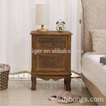 Side End Table Nightstand Bedroom Living Room Table Cabinet with 2 Drawers