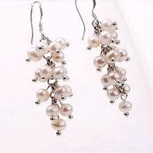 Freshwater off Round Pearl Beads Hook Earrings