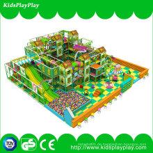 Kinderkinder Gungle-Thema-Ausrüstungs-indoor weicher Spielplatz mit langem Dia