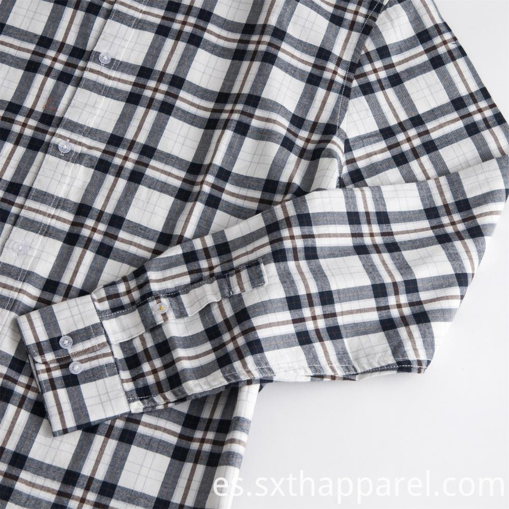 Anti-wrinkle Long Sleeve Check Formal Shirt