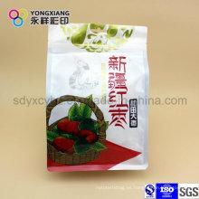 Bolsa de plástico de embalaje de alimentos secos de grado alimentario