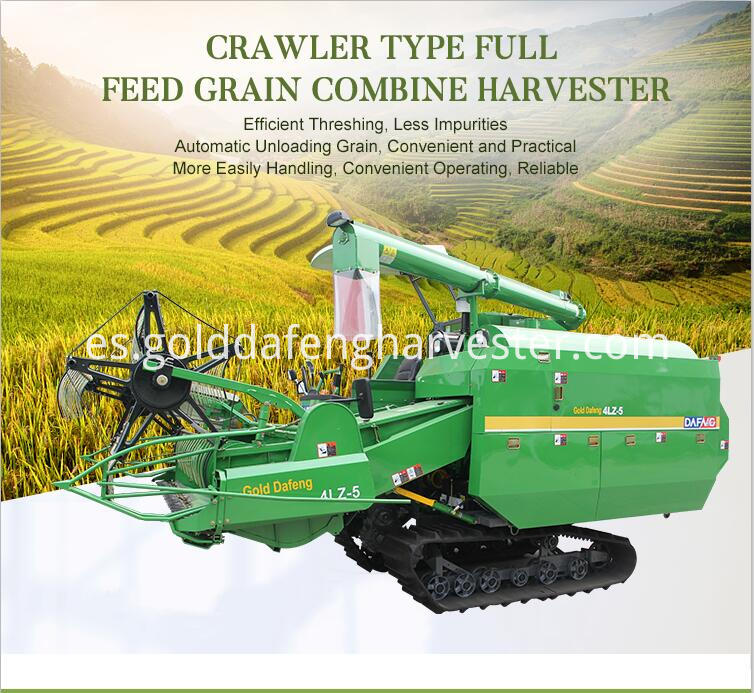Self Propelled Full Feed Rice Combine Harvester
