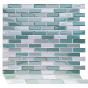 Piastrelle backsplash impermeabili in mosaico 3D con peel e stick