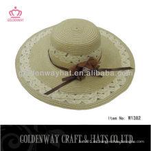 Grandes sombreros de playa para damas