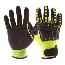 13G HPPE Cut Resistant Anti Impact Nitrile Sandy Reinforced Grip Heavy Work Gloves
