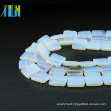 Factory Supply Flat Square Natural Opal Gemstone XA0002 Opal White Stone Loose Beads For Jewelry Making